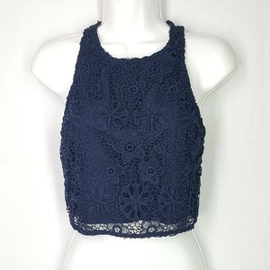 Hollister top, size Small, crop top, navy blue top
